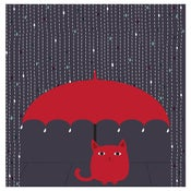 Image of Rain Kitty art print