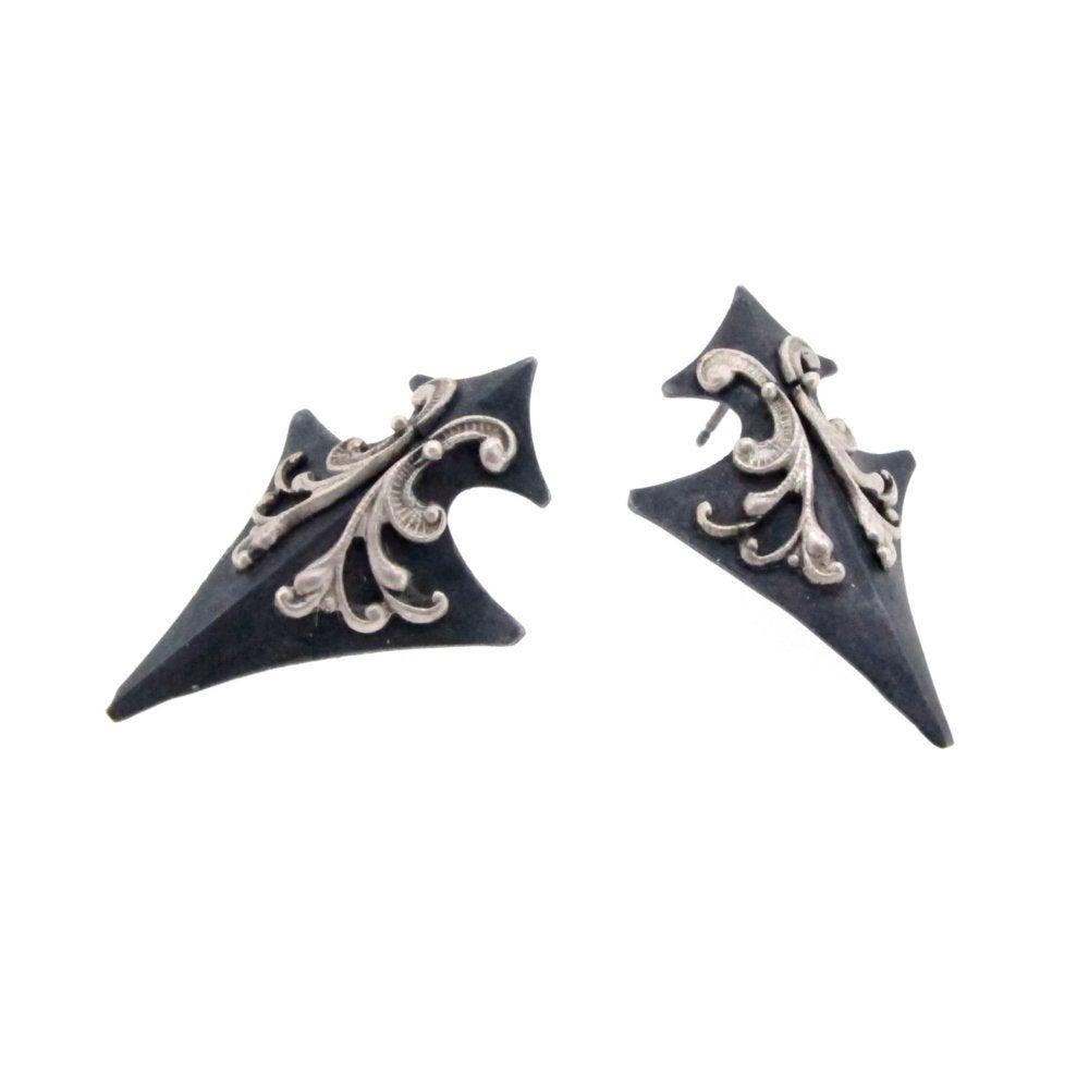 Image of Tristan's shield earrings