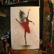"Image of ""Red Ballerina"" - Canvas Edition"