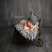 Image of Round Metal Wagon Cart - Vintage Style - Newborn Infant Toddler - Prop