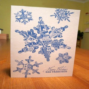 Image of San Francisco Snowflake Holiday Card - 1 Card / 1 Envelope