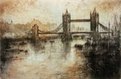 "Image of ""Old Thames and Tower Bridge"", London, England"