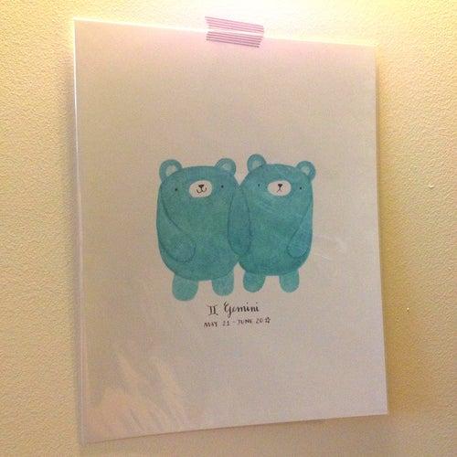 Image of gemini pudgy bear print