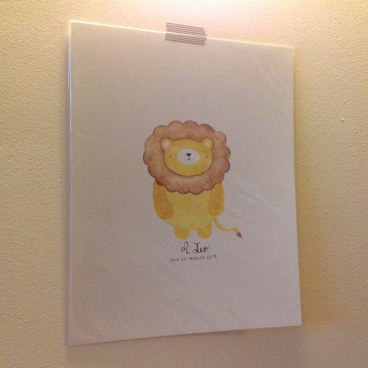 Image of leo pudgy bear print