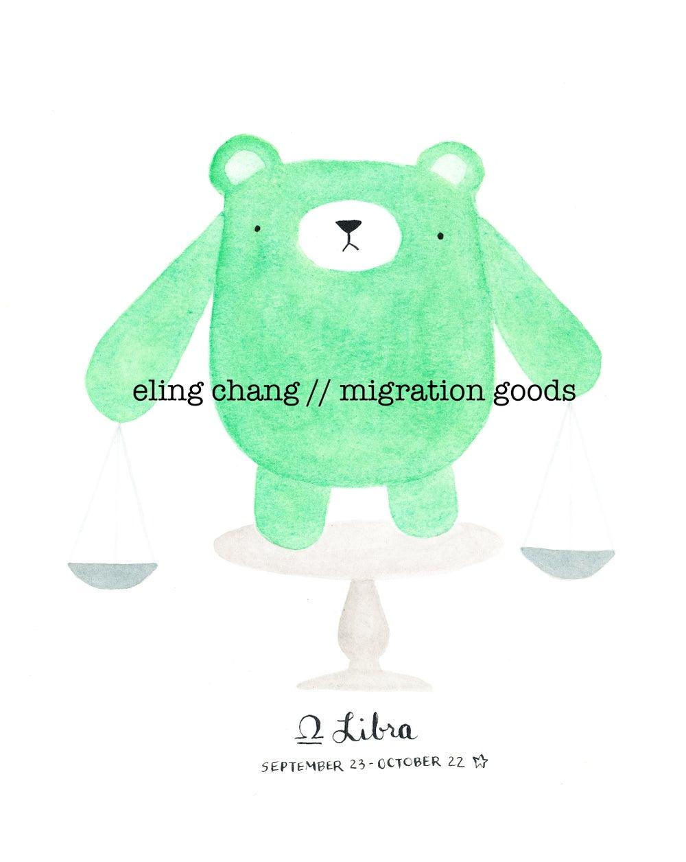 Image of libra pudgy bear print