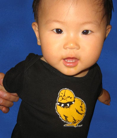 Image of Tough Chick Infant Onesie Black