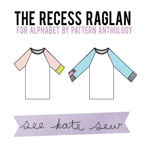 Image of the RECESS raglan knit tee PDF Pattern 18M to 8