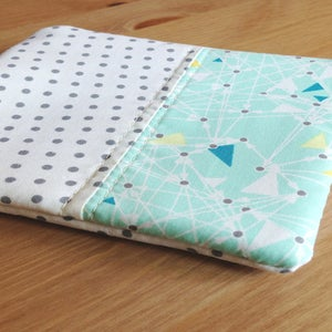 Image of Teal Triangles square zip pouch // Fancy Dot