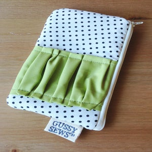 Image of Olives medium zip pouch // Fancy Dot