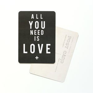 "Image of Carte Postale ""All You Need is LOVE"" GRIS ARDOISE"
