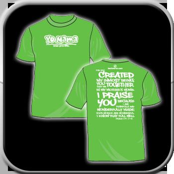 Image of T-shirt - Yo Momma Was Pro-Life (Green)