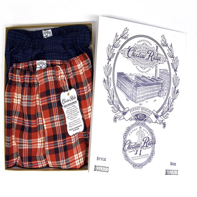 Image of Red Plaid / Indigo Plaid Boxers (2 Pack)