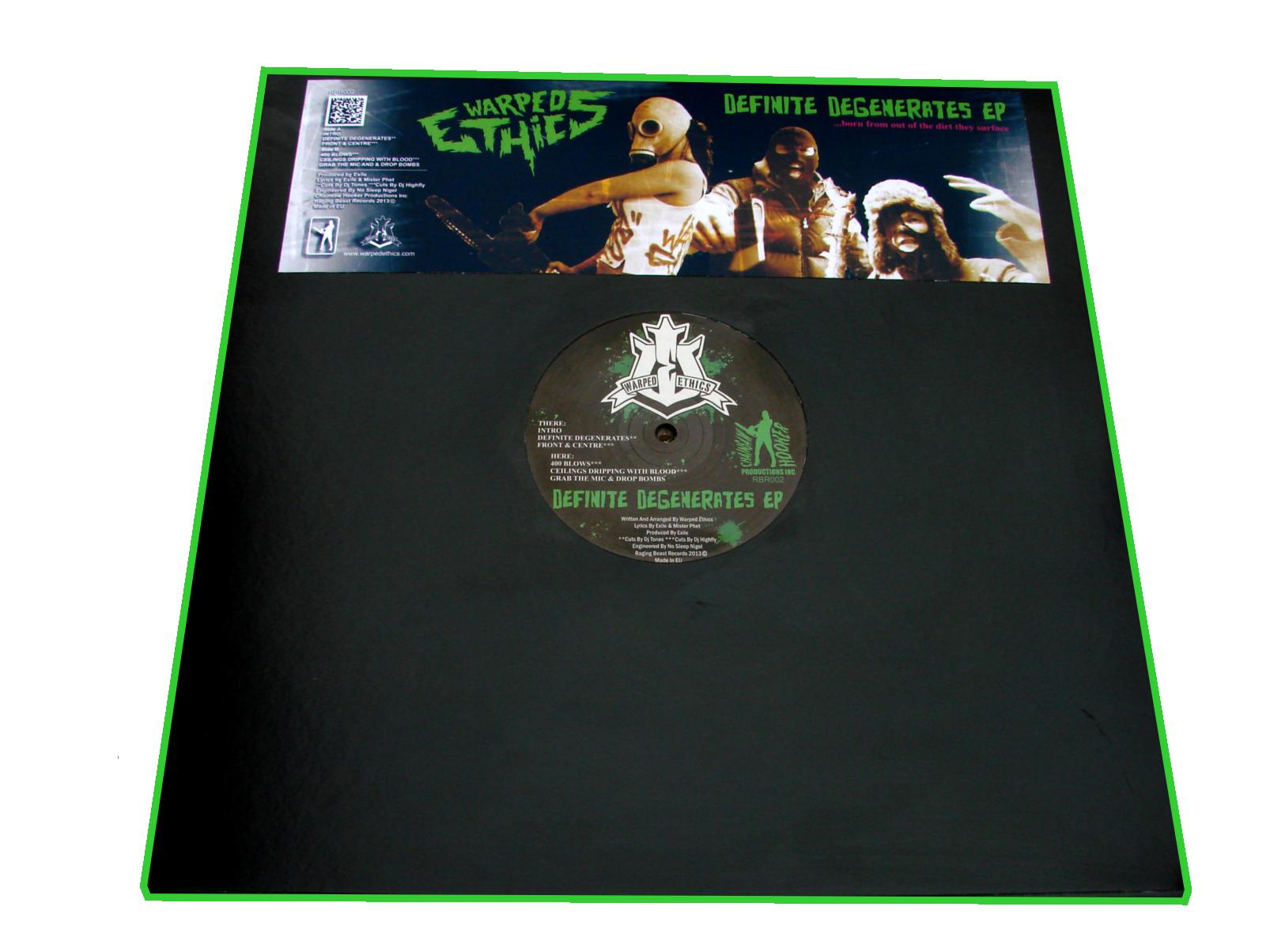Warped Ethics Definite Degenerates Ep Vinyl