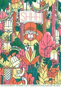 Image of SHHH Quiet Music Festival Poster - Bristol Sept 2013