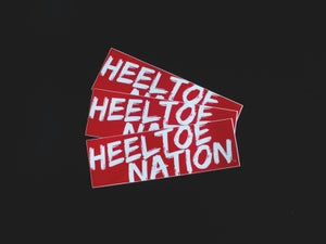 "Image of 8.5"" Vinyl HTN Red ""Slacker"" Bumper Sticker"
