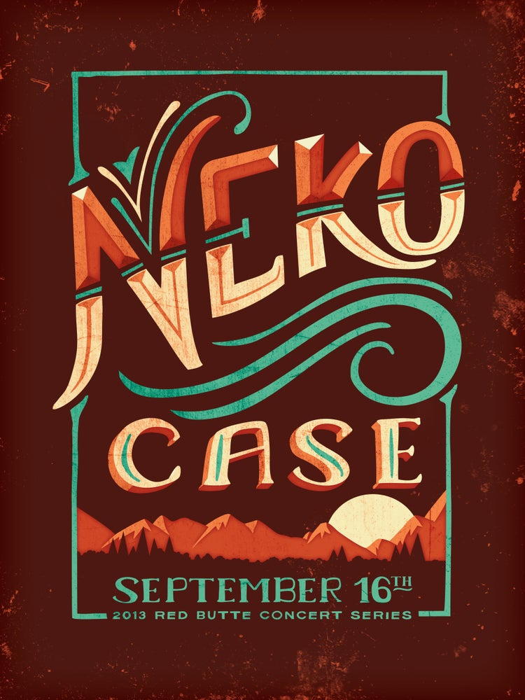 Image of Neko Case // Red Butte Gig Poster