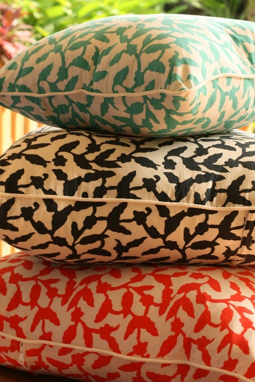 Image of Sofa and Floor Pillows