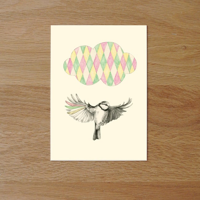 Image of Carte postale simple Oiseau