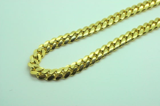 Image of 11mm 14kt gold cuban link