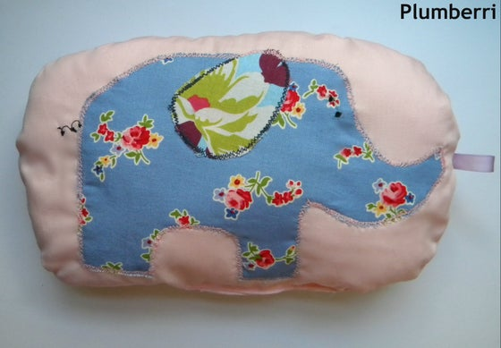 Image of Floral Elephant Pillow