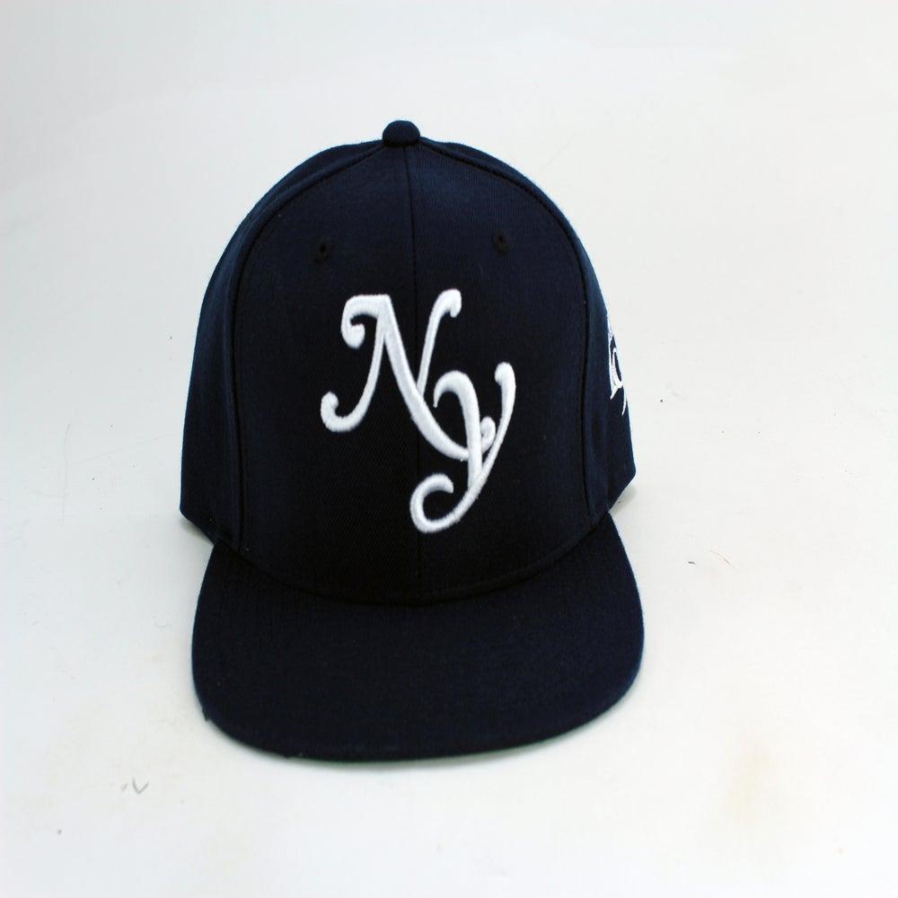 """Image of NAVY BLUE """"NY"""" SNAPBACK"""
