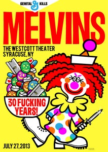 Image of Melvins Syracuse 30th Anniversary Tour