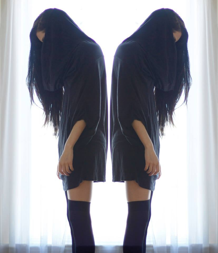 Image of Grimreaper oversized unisex top/tunic in Black