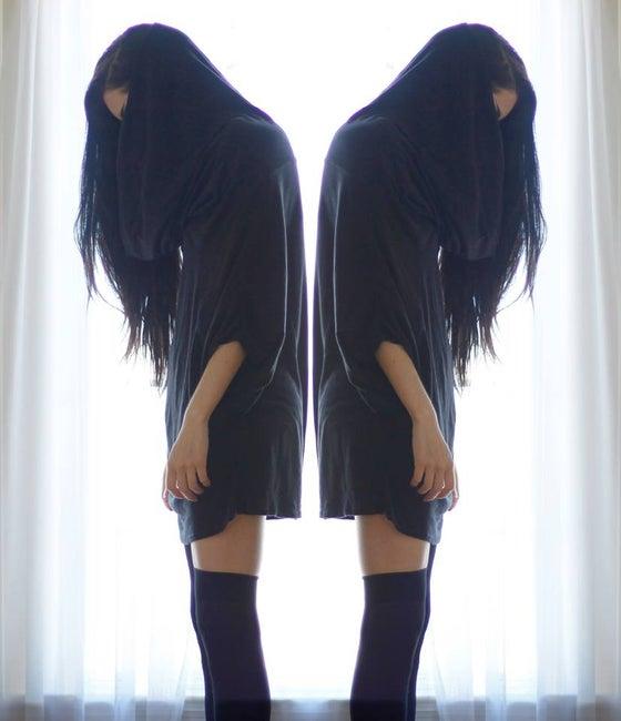 Image of Grimreaper oversized unisex top/tunic in Black