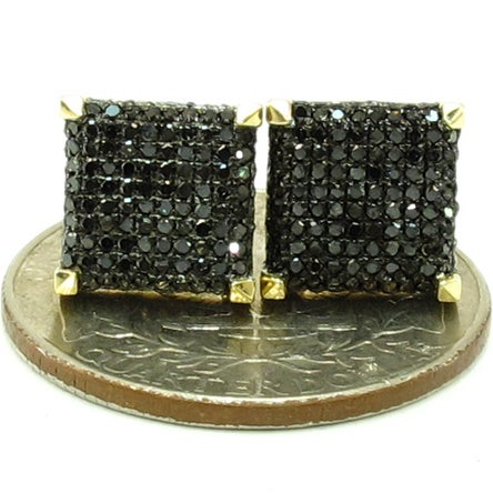 Image of 14kt micro pave studs