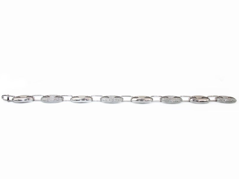 Image of 10kt white gold Diamond Gucci link Bracelet