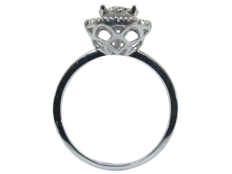 Image of Diamond Halo Engagement Ring Style DZ1
