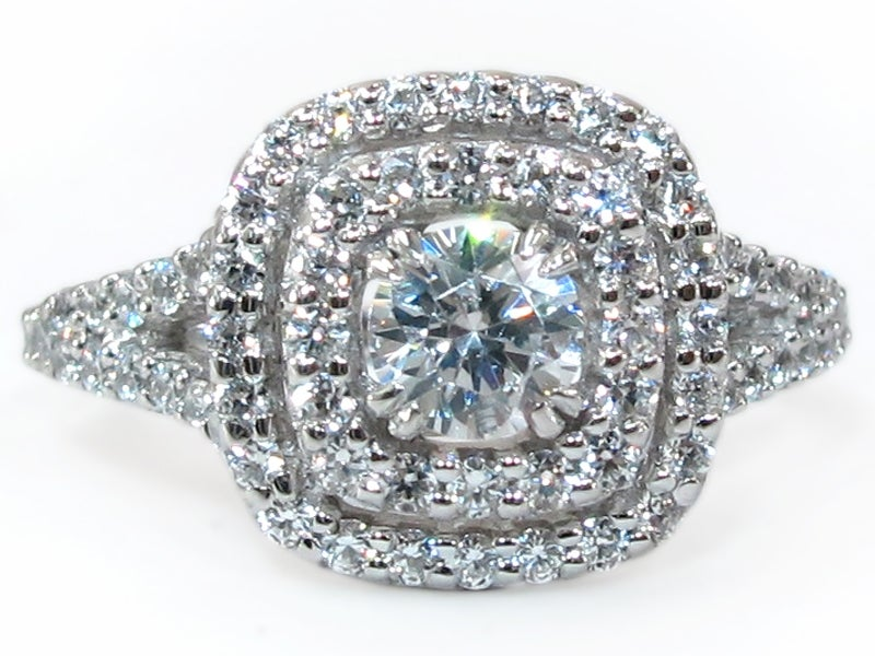 Image of 14kt Micro Pave Halo Engagement Style DZ2