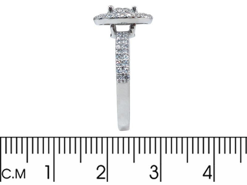 Image of 14kt double halo engagment style DZ3
