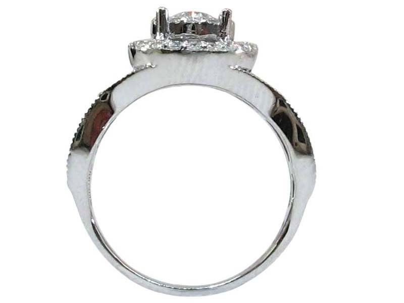 Image of 14kt Micro Pave HALO Engagement Style DZ5