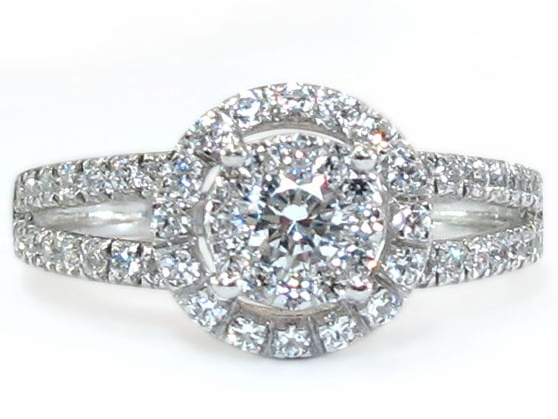 Image of 14kt Diamond Halo Engagement Style DZ7