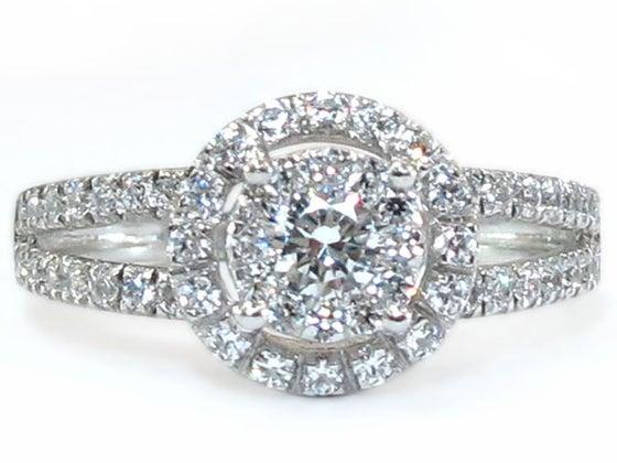 Image of 14kt Diamond Halo Engagement Style DZ7