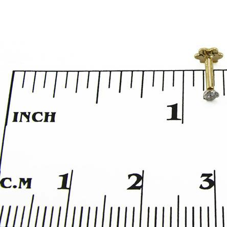 Image of Ladies 14kt diamond nose pin