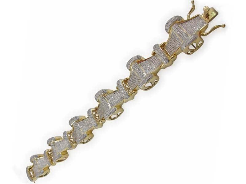 Image of 10kt Diamond Mens Bracelet