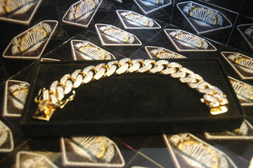 Image of 20mm Cuban Bracelet (fully set)