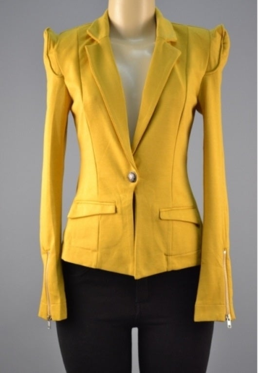 Image of Mustard yellow blazer