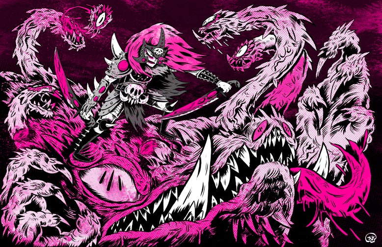 Image of Death Knight Screen Print