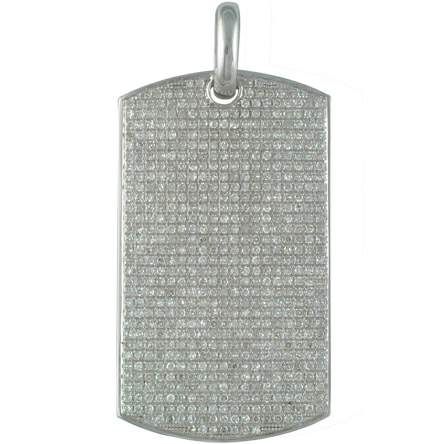 Image of 10kt Mens Micro Pave Dog Tag