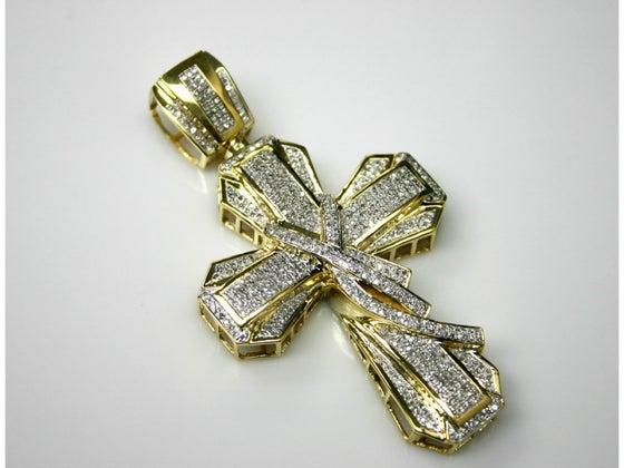 Image of 10kt Victorian Diamond Cross