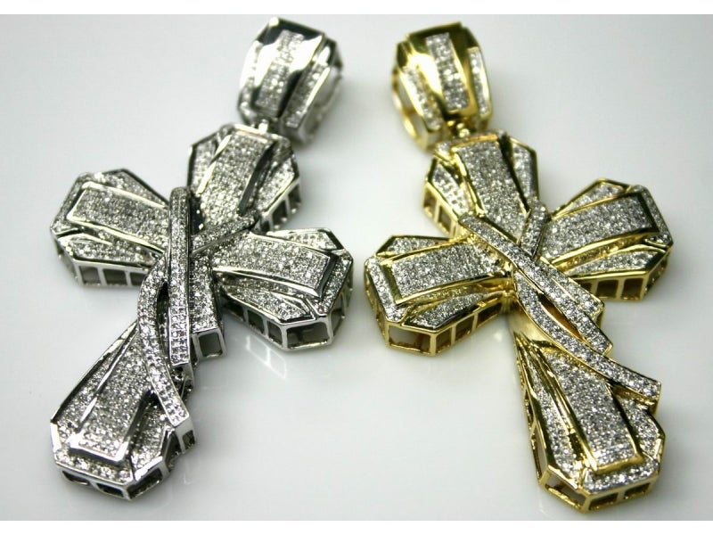 Image of 10kt Victorian Diamond Cross