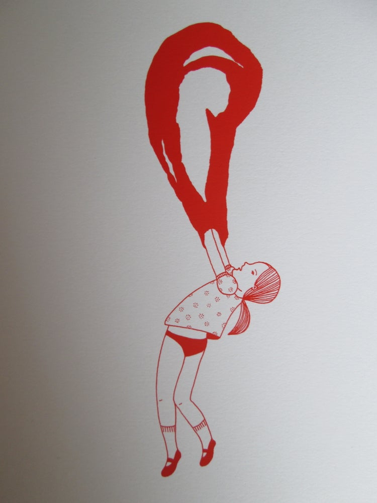 Image of Petite fille bulle rouge 2