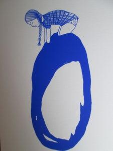 image de Petite fille bulle bleue 1