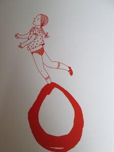 image de La petite fille bulle rouge