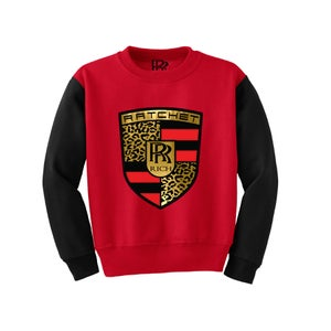 Image of Brackets & Levels Red Crewneck