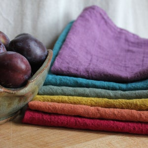 Image of Rainbow Linen Napkin Set
