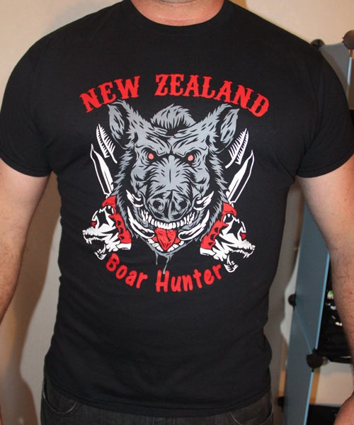 Image of New Zealand Boar Hunter T-Shirt